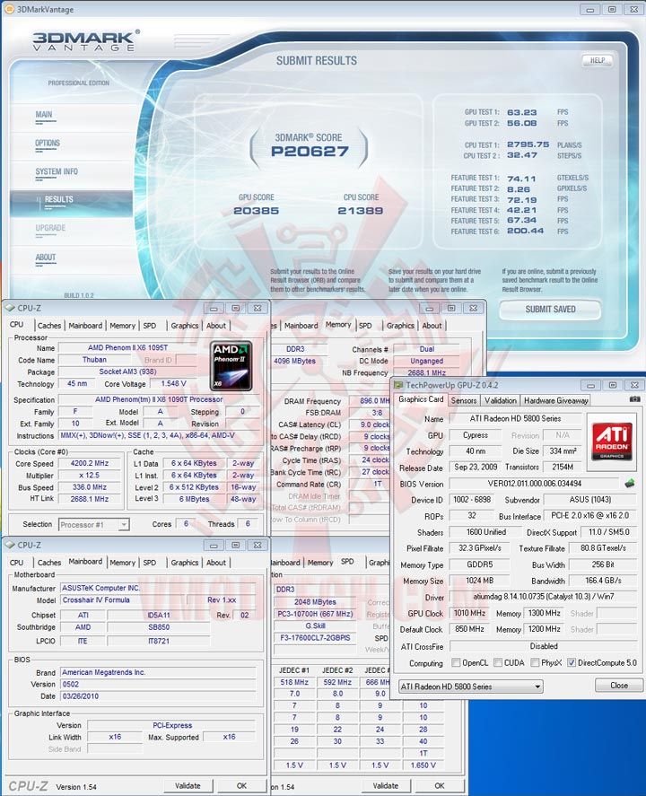 07 AMD Phenom II X6 1090T Black Edition Overclock Results