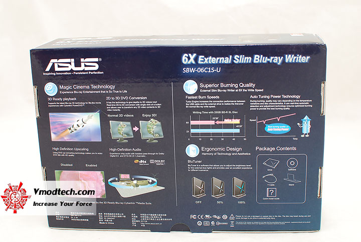 2 Review : Asus External Slim 6X Blu Ray Writer