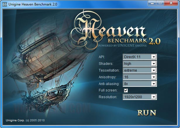 heaven set PALIT GTX 470 1280MB DDR5 Overclocking Review