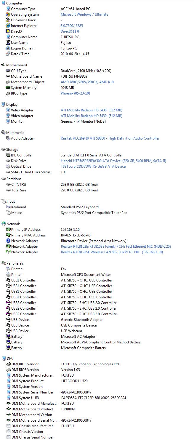 evin Review : Fujitsu Lifebook LH520