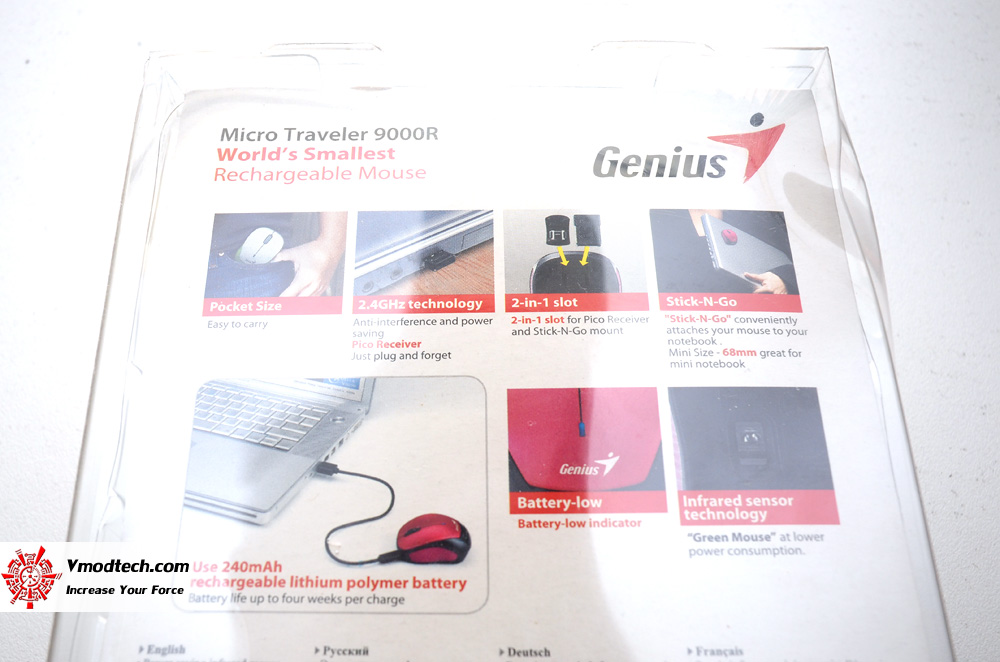 Genius Micro Traveler 9000R Wireless Rechargeable mouse