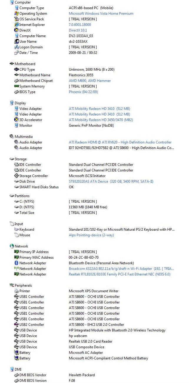 evin Review : HP Pavilion DV2
