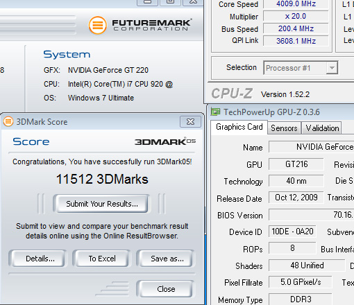 05r Review : Leadtek Winfast GT220 1024mb