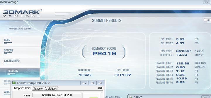 vtr Review : Leadtek Winfast GT220 1024mb