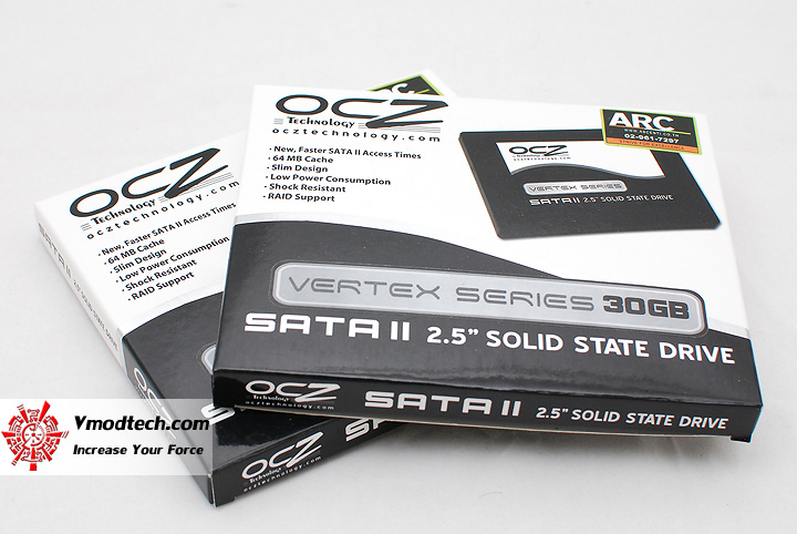 1 OCZ Vertex series 30gb solid state harddrive RAID0 performance showdown