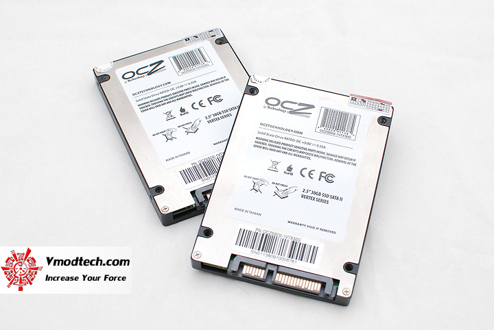 5 OCZ Vertex series 30gb solid state harddrive RAID0 performance showdown