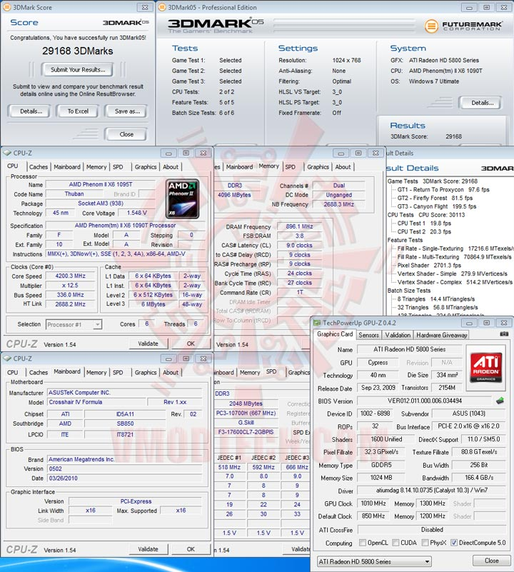 05 AMD Phenom II X6 1090T Black Edition Overclock Results