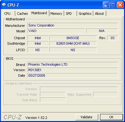 cpuz1 Review : Sony VAIO W