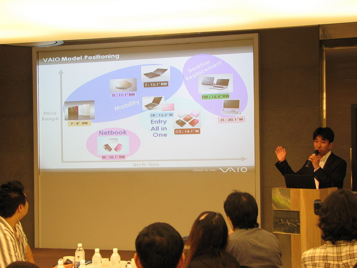 8 งานแถลงข่าว และเปิดตัว : Sony Vaio W Netbook ใหม่จาก โซนี่