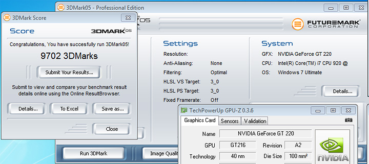 05r Review : XFX nVidia Geforce GT220 1gb